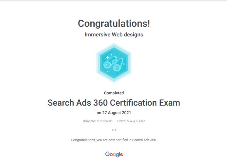 Google 360 certification